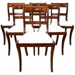 Set of 6 19th Century English Regency Style Mahogany Dining Chairs