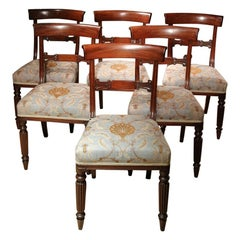 Set of 6 19th Century Mahogany Dining Chairs