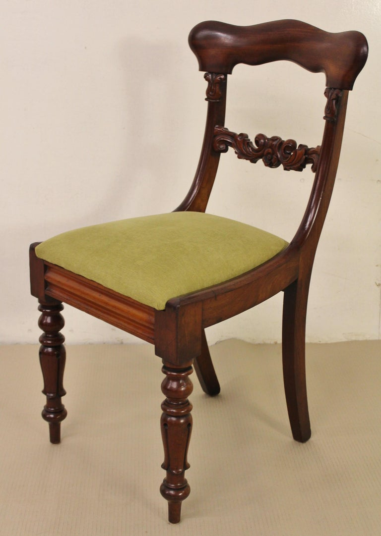 Set of 6 19th Century Victorian Mahogany Dining Chairs For Sale 8