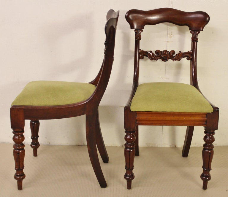 Set of 6 19th Century Victorian Mahogany Dining Chairs For Sale 1