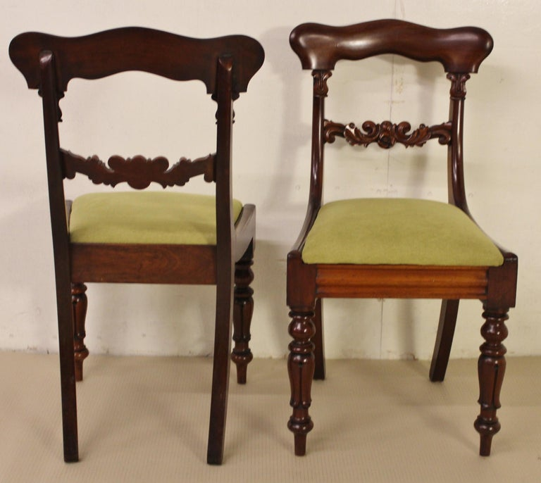 Set of 6 19th Century Victorian Mahogany Dining Chairs For Sale 2