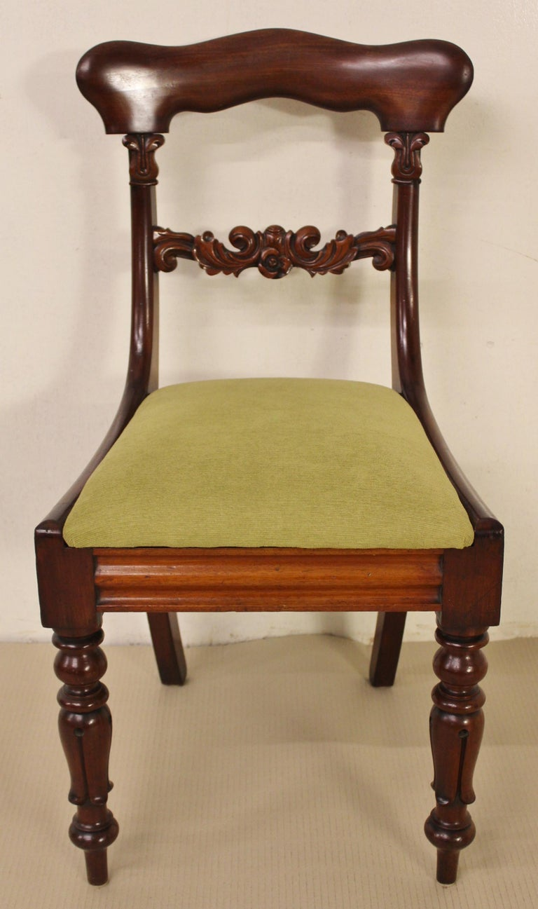 Set of 6 19th Century Victorian Mahogany Dining Chairs For Sale 3
