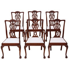 Set of 6 (4+2) Mahogany Georgian Revival Dining Chairs