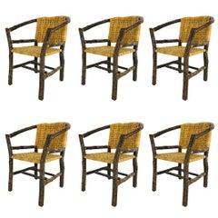 Set of Six Adirondack Tree Branch Chairs