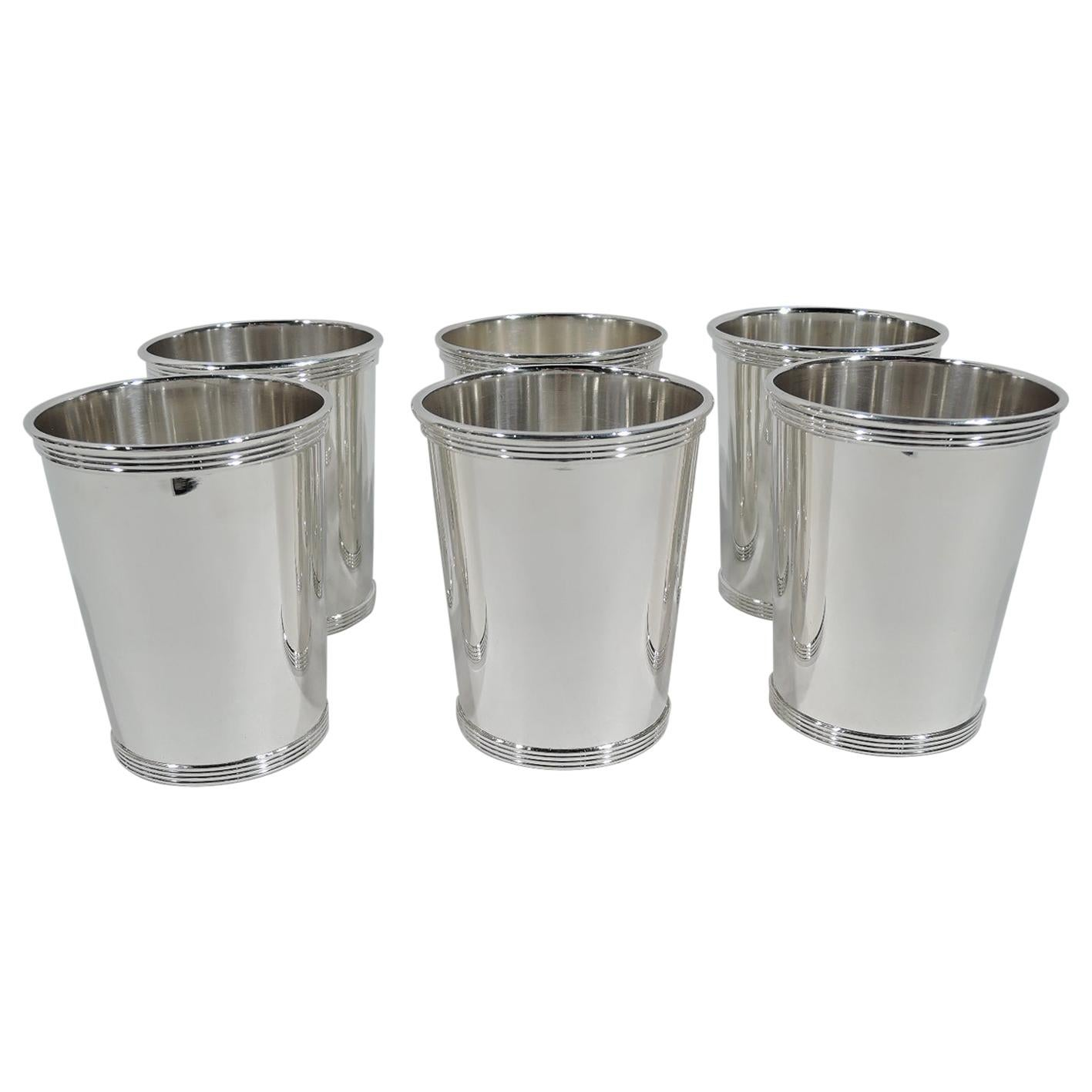 Set of 6 Alvin Traditional Sterling Silver Mint Julep Cups