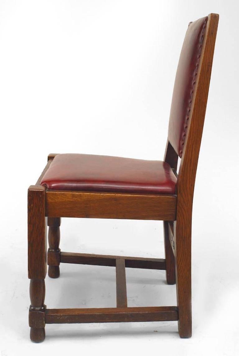 Set of Six American Mission Side Chairs  In Good Condition For Sale In New York, NY