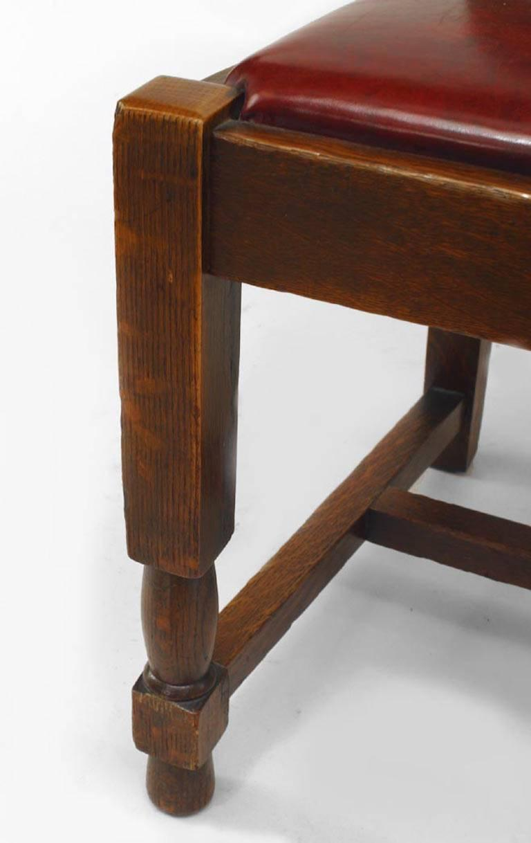 20th Century Set of Six American Mission Side Chairs  For Sale