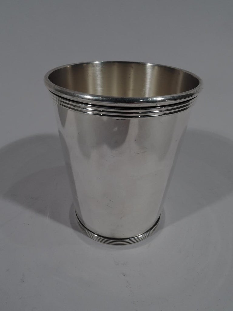 Modern Set of 6 American Sterling Silver Mint Julep Cups by Alvin