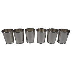 Set of 6 American Sterling Silver Mint Juleps by Manchester