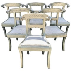 Set of 6 Anglo-Indian Regency Style Chairs