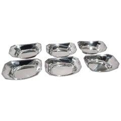 Set of 6 Antique Gorham Edwardian Sterling Silver Nut Dishes