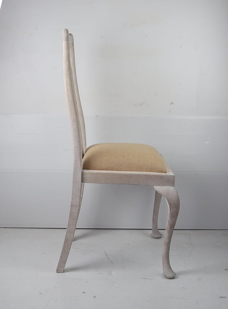 Set of 6 Antique Gustavian Style Urn Back Dining Chairs with Shell Detail For Sale 1