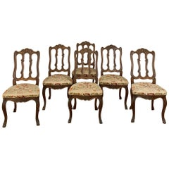 Set of 6 Antique Liegoise Louis XIV Dining Chairs