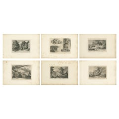 Set of 6 Antique Prints of Flanders and Holland, 'circa 1820'