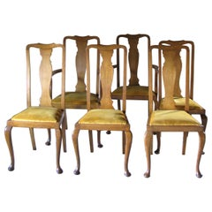Set of 6 Antique Vintage Chairs, Early 20th Century, England, Decorative