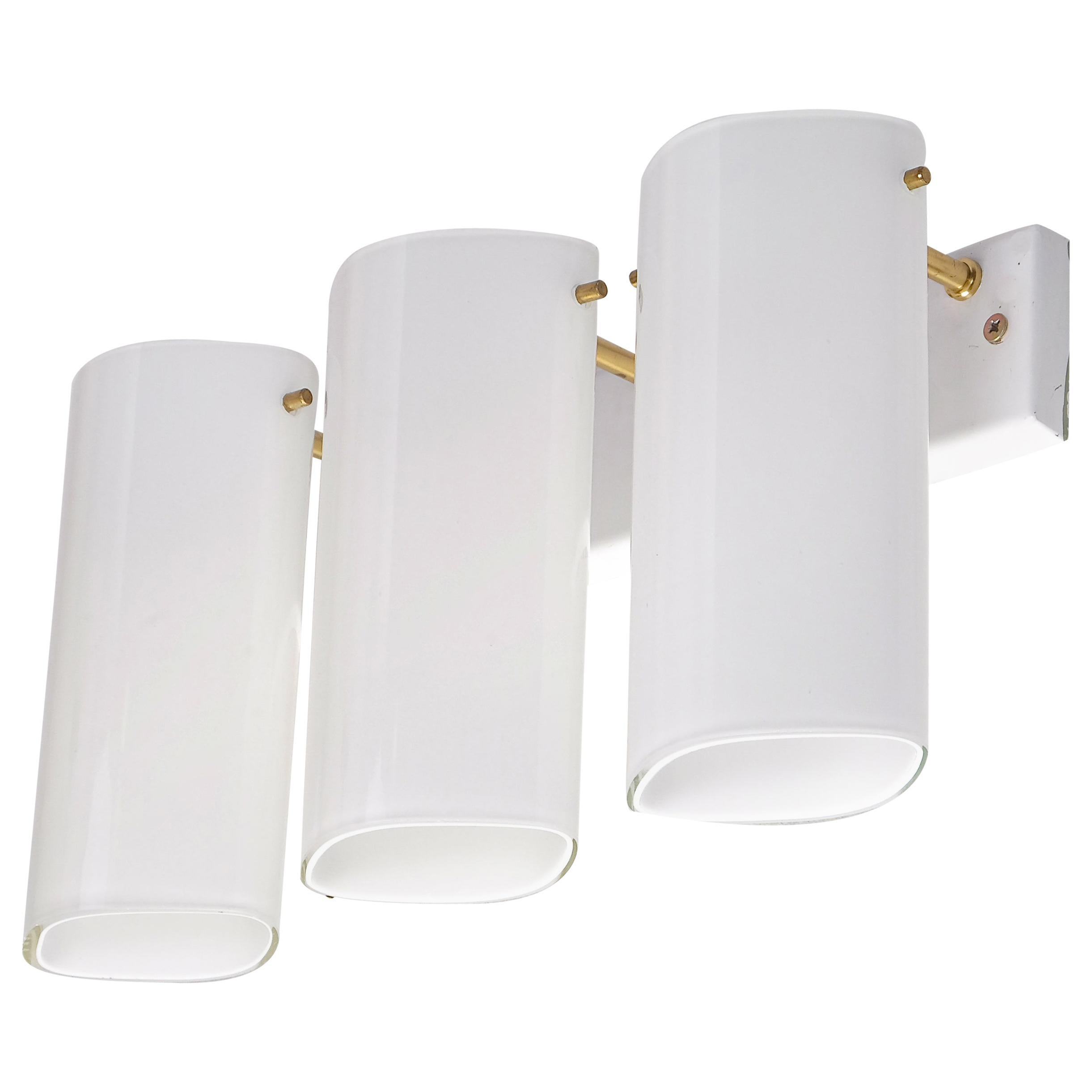 """Set of 6 """"Ark"""" Wall Lamps by Gert Nyström, Fagerhults, Sweden, 1960s"""