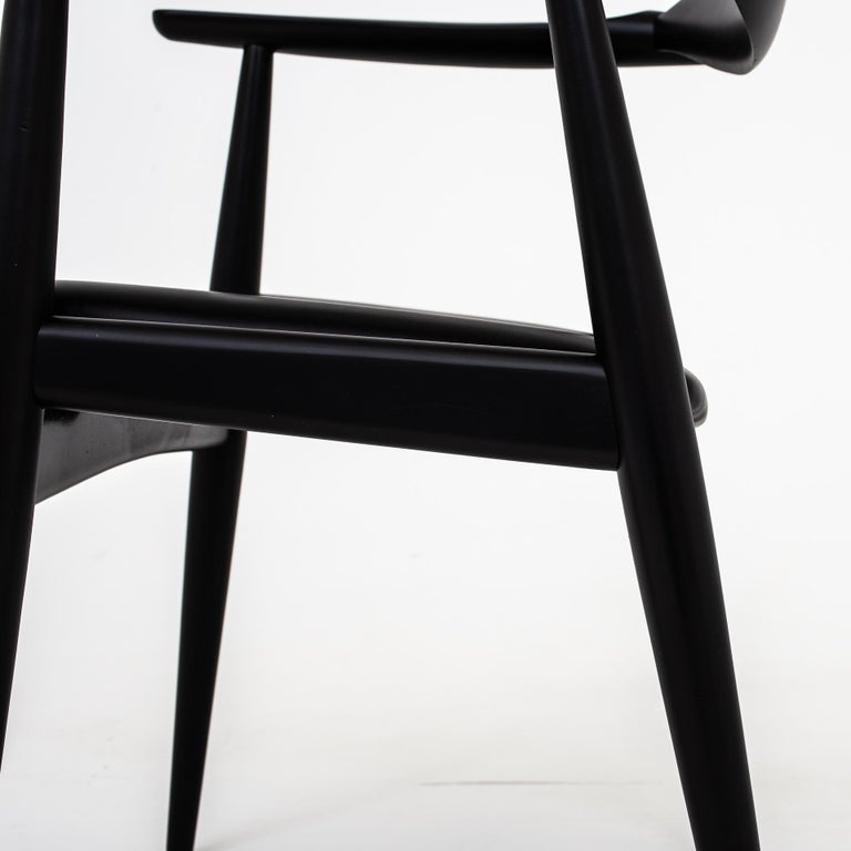 Painted Set of 6 Armchairs by Hans J. Wegner For Sale