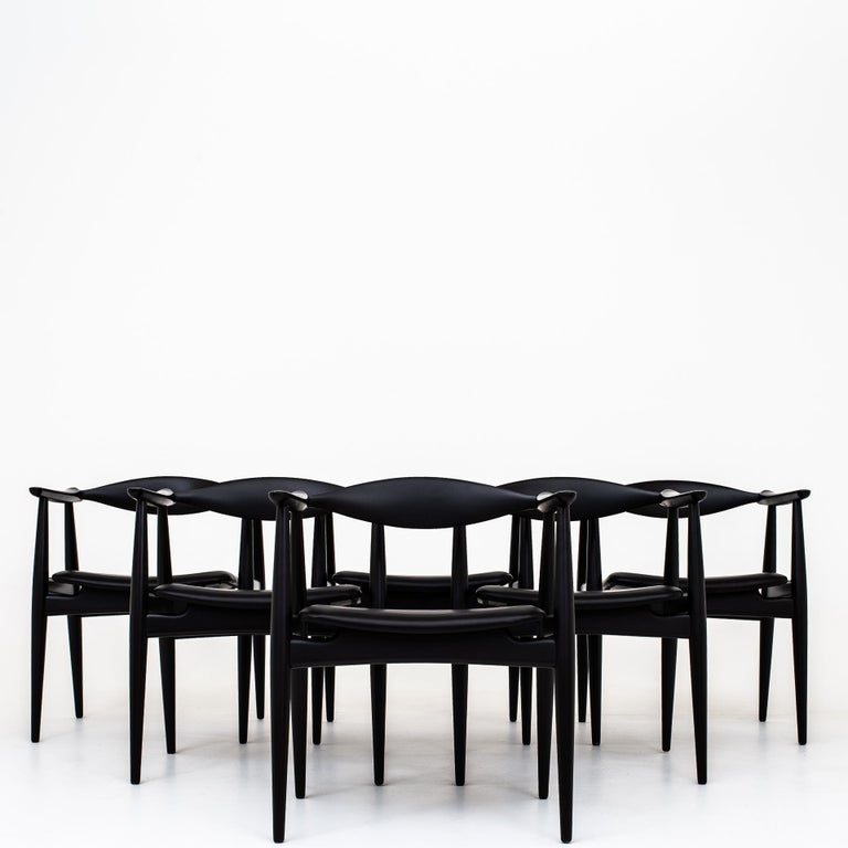 Set of 6 Armchairs by Hans J. Wegner For Sale 1