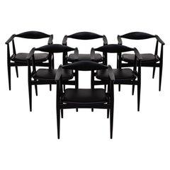Set of 6 Armchairs by Hans J. Wegner
