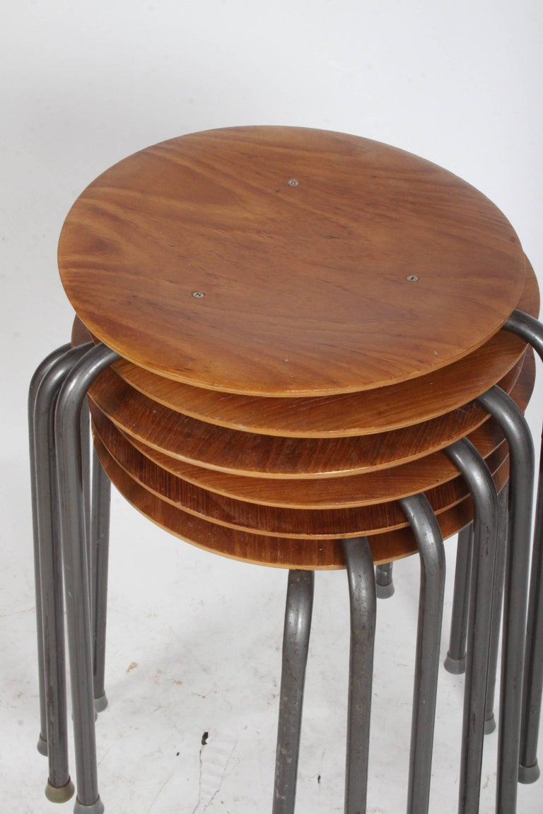 Set Of Six Arne Jacobsen Dot Stacking Stools Or Tables For