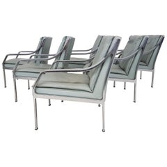 Set of 6 Art Collection Leather Lounge Chairs by Rudolf Bernd Glatzel for Knoll