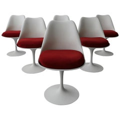 Set of 6 Authentic Early Tulip Dining Chairs by Eero Saarinen for Knoll