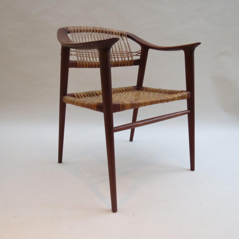 Norwegian Set of 6 Bambi Dining Chairs by Rolf Rastad and Adolf Relling Norway For Sale