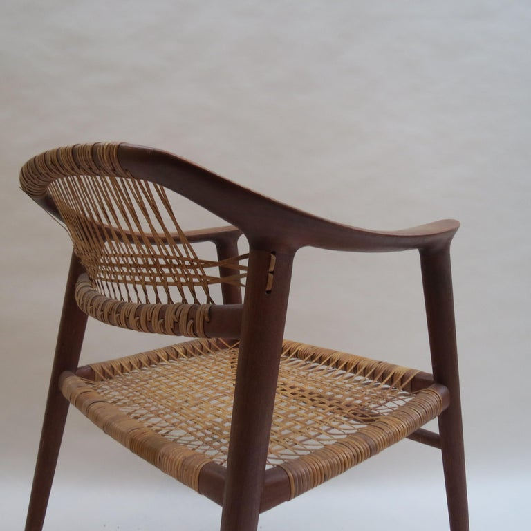 Set of 6 Bambi Dining Chairs by Rolf Rastad and Adolf Relling Norway In Good Condition For Sale In Stow on the Wold, GB