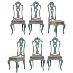 Set of 6 Baroque Rococo Chairs - France, ca. 1950s