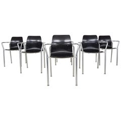 Set of 6 Bauhaus Chairs by Pagholz, Germany, 1950s