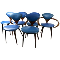 Set of 6 Bent Plywood Dining Chairs by Cherner for Plycraft
