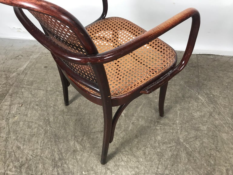 Set of 6 Bentwood and Cane Armchairs