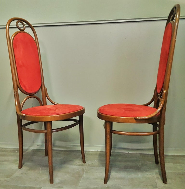 Set of 6 Bentwood Higgh Back Dining Chairs by Thonet, Germany For Sale 4