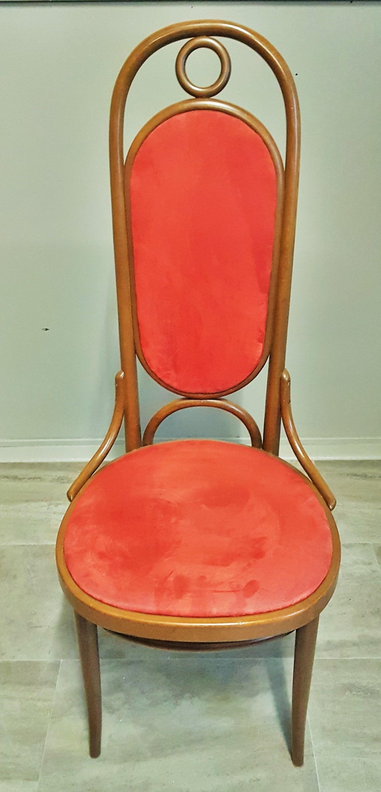 Set of 6 Bentwood Higgh Back Dining Chairs by Thonet, Germany For Sale 10
