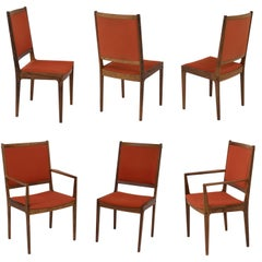 Set of 6 Bernhard Pedersen & Son Danish Modern Rosewood Dining Chairs