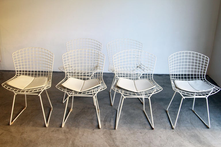 Set of 6 Bertoia Side Chairs for Knoll Vintage In Good Condition In St. Louis, MO