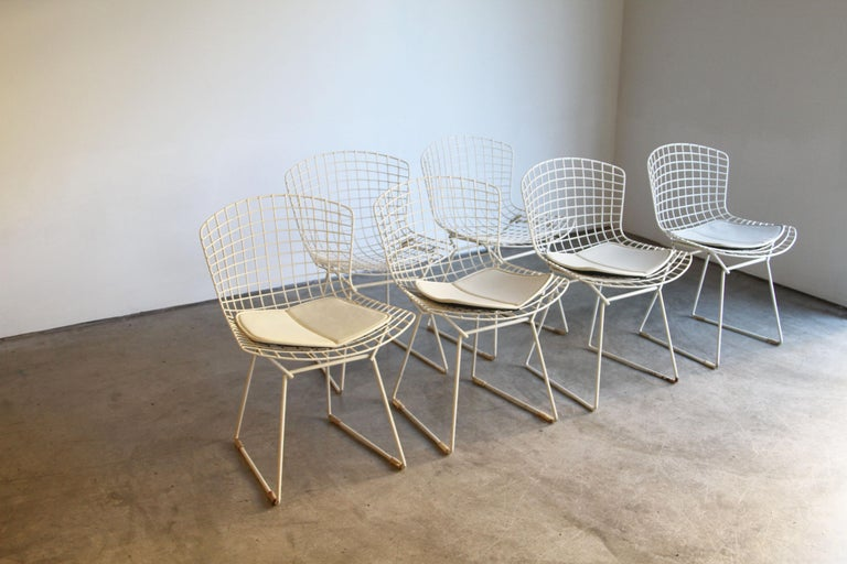 20th Century Set of 6 Bertoia Side Chairs for Knoll Vintage