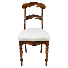 Set of 6 Biedermeier Mahogany Dining Chairs with Upholstered Seat, circa 1830