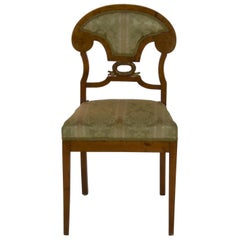 "Set of 6 Biedermeier ""Schaufelstuhl"" Shovel Chairs Birch, circa 1830"