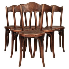 Set of 6 Bistro Chairs by Jacob & Josef Kohn, 1890 Austro-Hungarian Empire