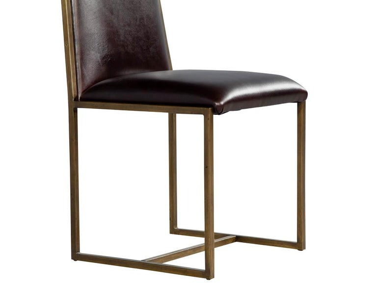 Set of 6 Brass Dining Chairs by Mastercraft For Sale 4
