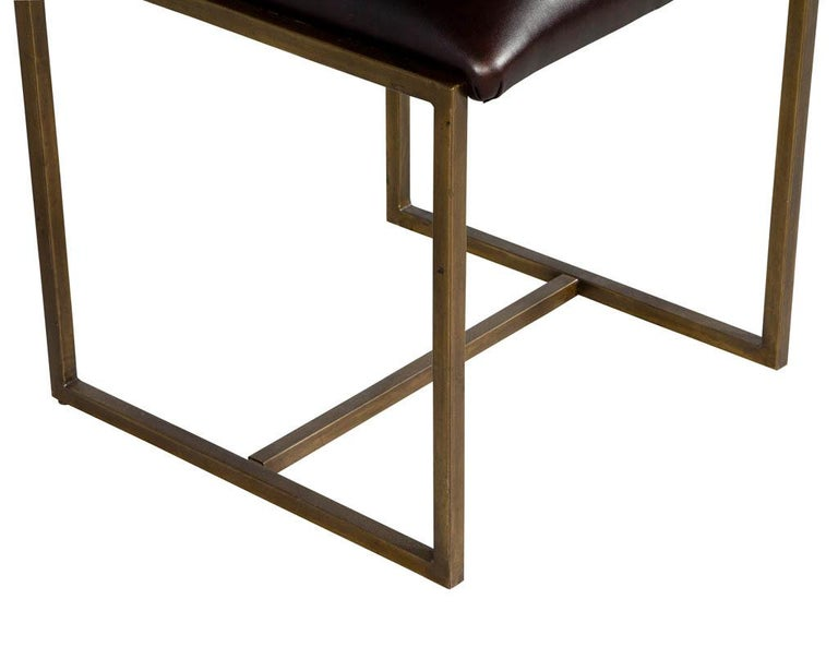Set of 6 Brass Dining Chairs by Mastercraft For Sale 7
