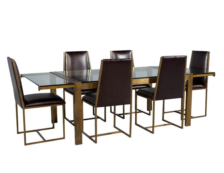 Set of 6 Brass Dining Chairs by Mastercraft For Sale 8