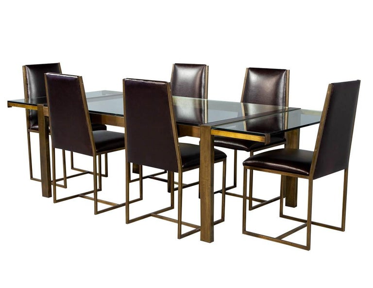 Set of 6 Brass Dining Chairs by Mastercraft For Sale 9