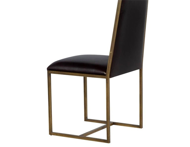 Set of 6 Brass Dining Chairs by Mastercraft For Sale 1