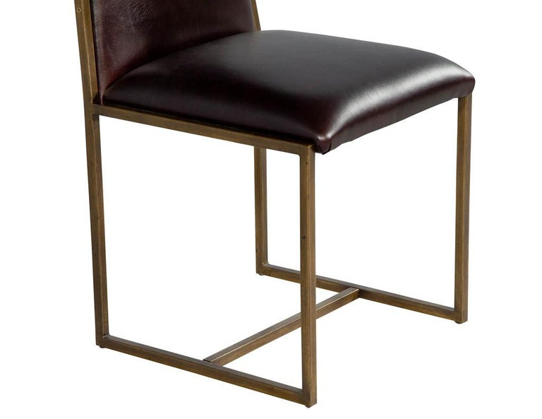 Set of 6 Brass Dining Chairs by Mastercraft For Sale 3
