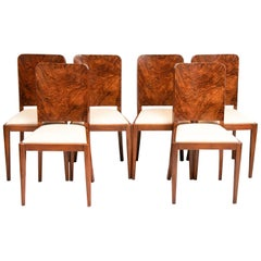 Set of 6 British Art Deco Dining Chairs