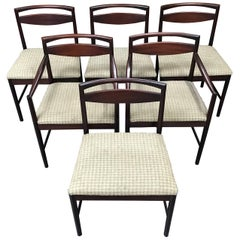 Set of 6 British Midcentury Dining Chairs by Tom Robertson for AH McIntosh