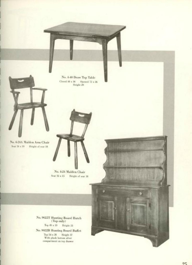 Set of 6 California Studio Craft Primitive Wood Dining Chairs For Sale 2