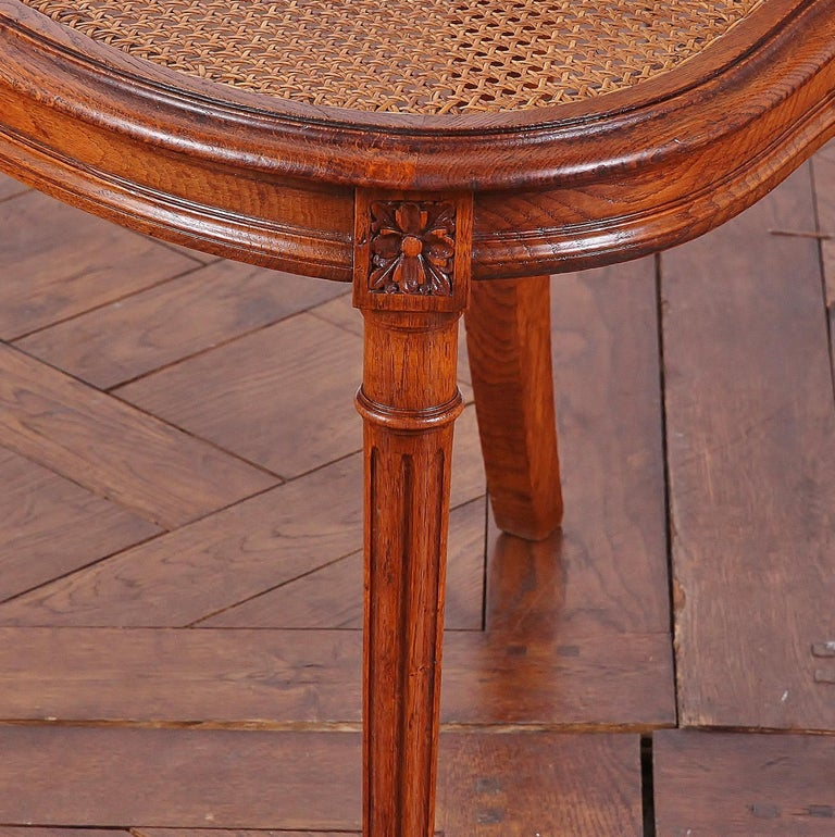 Set of 6 Carved Oak Louis XVI Dining Chairs For Sale 3